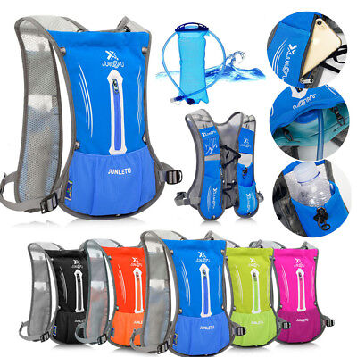 UK Sports Backpack Hiking Hydration Pack Bag Cycling Running Vest+2L Water Pack