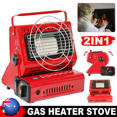 Gas Heater Camping Outdoor Butane Warmer Hiking Camp Tent Survival Cooker OZ