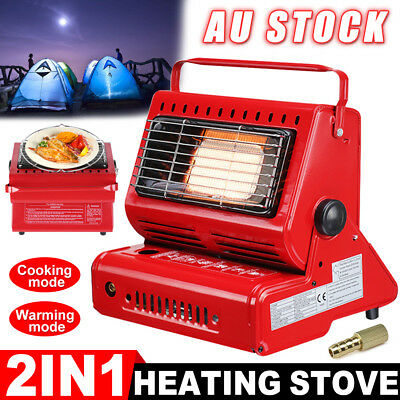 Portable Butane Gas Heater Camping Camp Tent Hiking Outdoor Camper Heat AU