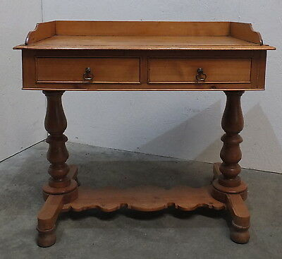 Victorian Antique Pine Washstand Dressing Table Desk (242)
