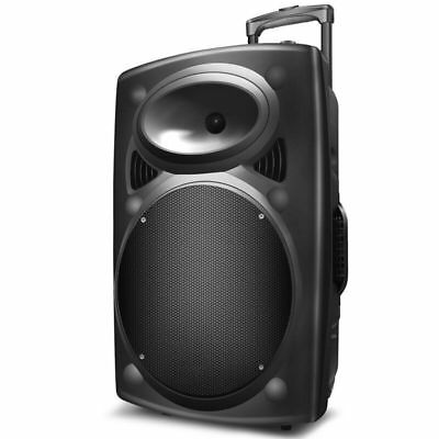 "1500W 12"" Portable Remote Audio PA DJ Party Speaker w/ Bluetooth USB Speaker"
