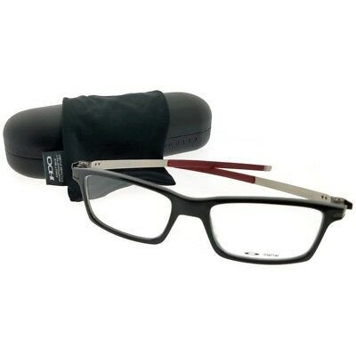 52646430a24 Oakley OX8050-05-53 Pitchman Men s Black Frame Clear Lens Genuine  Eyeglasses NWT