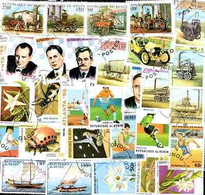 BENIN collections 50 à 500 stamps different