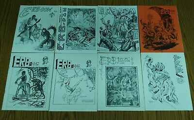 15 issues of fanzine ERB-dom, # 4,5,6,7,8,9,10,11,12,13,14,15,16,75&81