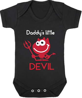 DADDYS LITTLE DEVIL New Bodysuit/Grow/Vest, Gift, Baby Shower, HALLOWEEN Costume