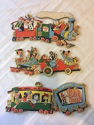 Vintage Disney Wall Plaques~CASEY JR. CIRCUS TRAIN  3-pc Wall Hanging 1950's