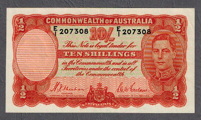 Commonwealth of Australia 1939 KGVI Sheehan/McFarlane Ten Shillings Banknote R12