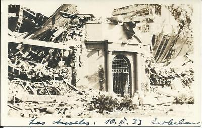 1933 USA Photo Earthquake Los Angeles 10 March 1933 El Salvador Postcard Germany