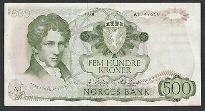 500 Kroner From Norway 1978