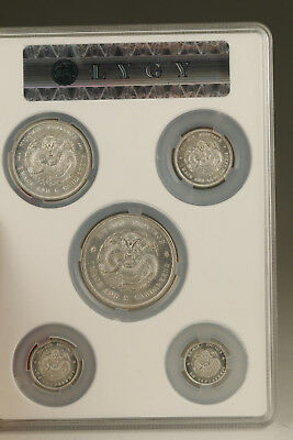 5 pieces China qing dynasty guangxu founding copper silver Commemorative COINS