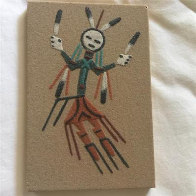 """Navajo Sand Painting Native American Design """"rainbow"""" - Signed Yazzie"""