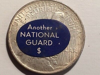1922-P Sticker Peace Dollar- Another National Guard $