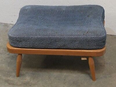 Retro 1960's Ercol Blonde Beech / Elm Footstool for Restoration (41)