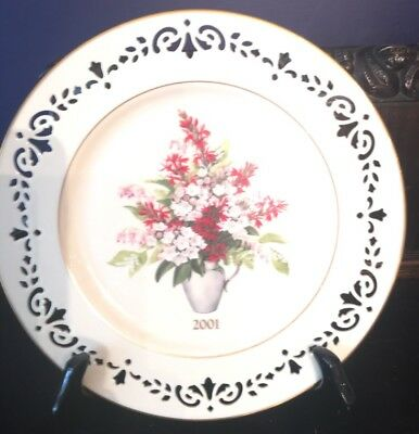 Lenox Colonial Bouquet China Collectors Plate 2001 Pennsylvania Sealed NEW Box