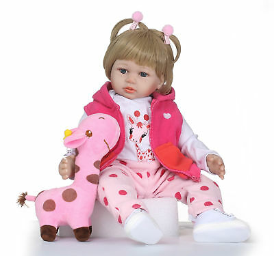 Reborn Baby Doll Toddler Real Looking Newborn Baby Vinyl Silicone Doll 24inch