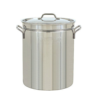 Bayou Large 62 Quart Stainless Steel Boil Fry Steam Cooking Soup Stockpot w/ Lid