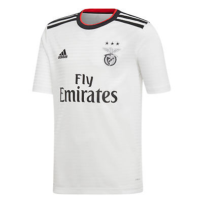 Official Benfica Football Away Shirt Jersey Tee Top 2018 19 Kids adidas