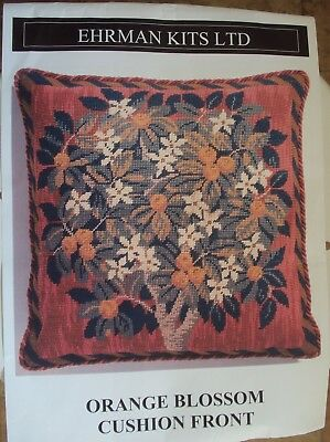 Tapestry cushion front 'Orange Blossom' by Ehrman