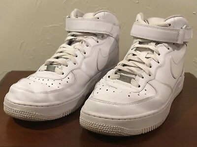 NIKE AIR FORCE 1 Mid White MENS US 11 $39.40   PicClick