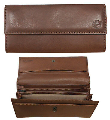 Timberland Brown Large Womens Leather Purse Wallet TB0A1ATS 140 S