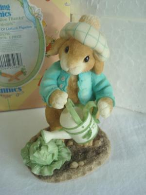 1996~Enesco~My Blushing Bunnies~Lettuce Give Thanks For Friends~#204390~w/Box