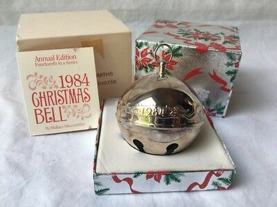 Wallace Silversmiths 1984 Annual Edition Silver Plated Christmas Sleigh Bell