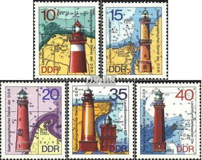 DDR 1953-1957 (complete.issue) used 1974 Lighthouses
