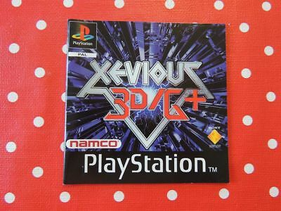 Xevious 3D/G+ Playstation 1 PS1 PSX nur die Anleitung - only manual