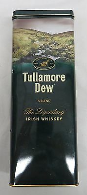 Tullamore Dew Irish Whiskey Collectors Metal Tin - Empty No Bottle - 10 1/2""