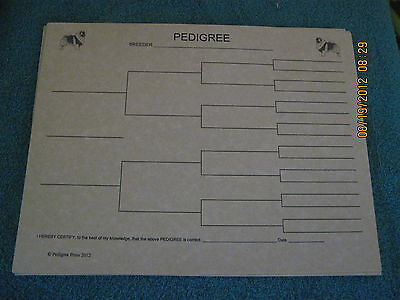 Keeshond Blank Pedigree Sheets Pack 10 FREE SHIPPING IN USA dog