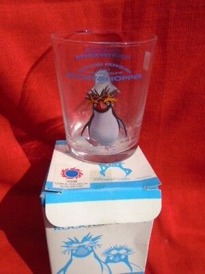 Rocky and Hopper Play Station Characters Collector Glass /Osaka, Japan Aquarium
