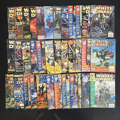 Collection Of 36 White Dwarf Magazines Various Issues Bundle Job Lot