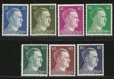Germany (Third Reich) 1941-1944 MNH - Selection of 7 Hitler Definitives (Lot 5)