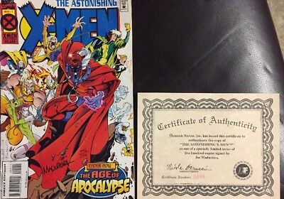 The Astonishing X-men Enter Now The Age Of Apocalypse Signed W/certificate