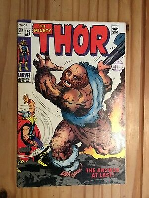 Thor #159 ,Marvel ,1968 Origin,  Grade VG