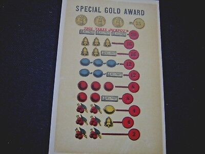 Special Gold Award  payout cards