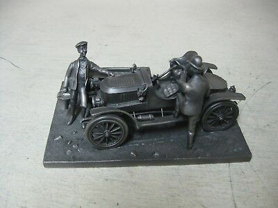 Collectible Franklin Mint By Lionel Forrest Pewter Stanley Steamer Figure