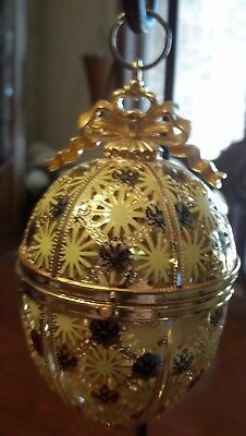 FABERGE Egg Yellow Egg Ornament Excellent