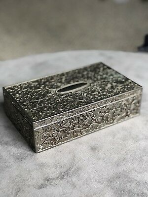 vintage sterling silver trinket box