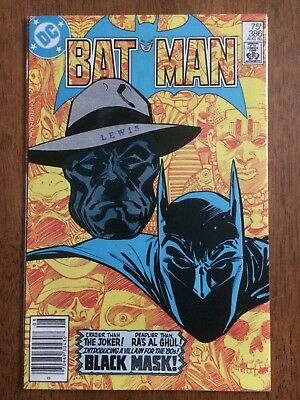 Batman #386 (DC 1985) 1st Appearance Black Mask 7.0 7.5