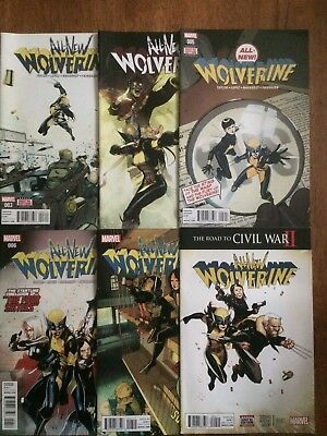 All New Wolverine #3 4 5 6 7 9  (Marvel 2016) NM