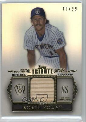 2013 Topps Tribute Retired Remnants Relic/99 #RR-RY Robin Yount Baseball Card