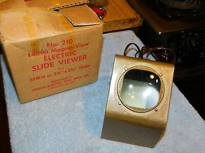 "Vintage Mid Century Desk Top Slide Viewer "" Logan Electric"" No. 210 Magna View"