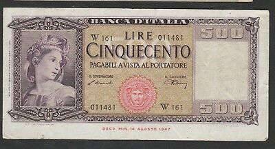 500 Lire From Italy W