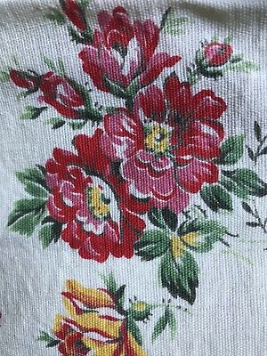 "Stunning Vintage french Shabby Chic Cotton Floral Fabric 21""/27"""