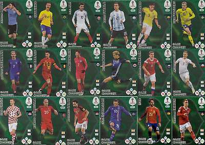 2018 Panini Adrenalyn XL FIFA WORLD CUP RUSSIA - Game Changer CARDS 18 set