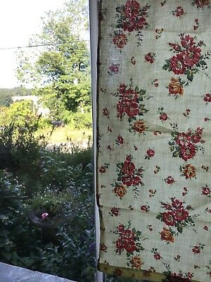 """Stunning Vintage french Shabby Chic Cotton Floral Fabric 25""""/39"""""""