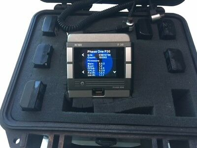 phase one p30 digital back and 7 batterys and a pelican case