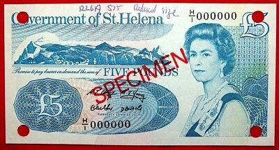 Government Of St Helena 5 Pounds Specimen Unc