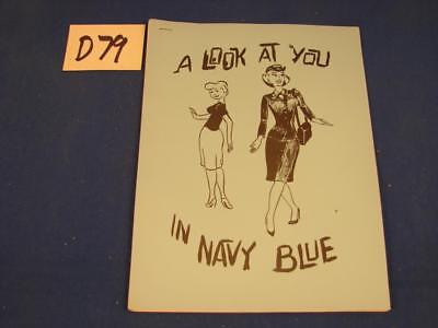 D79 Vintage 1960's Us Navy Recruiting Brochure Boston Look In You In Navy Blue